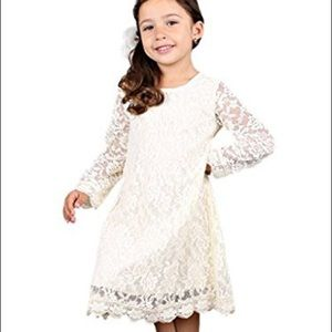 Bow Dreams | Lace Long Sleeve Flower Girl Dress S3